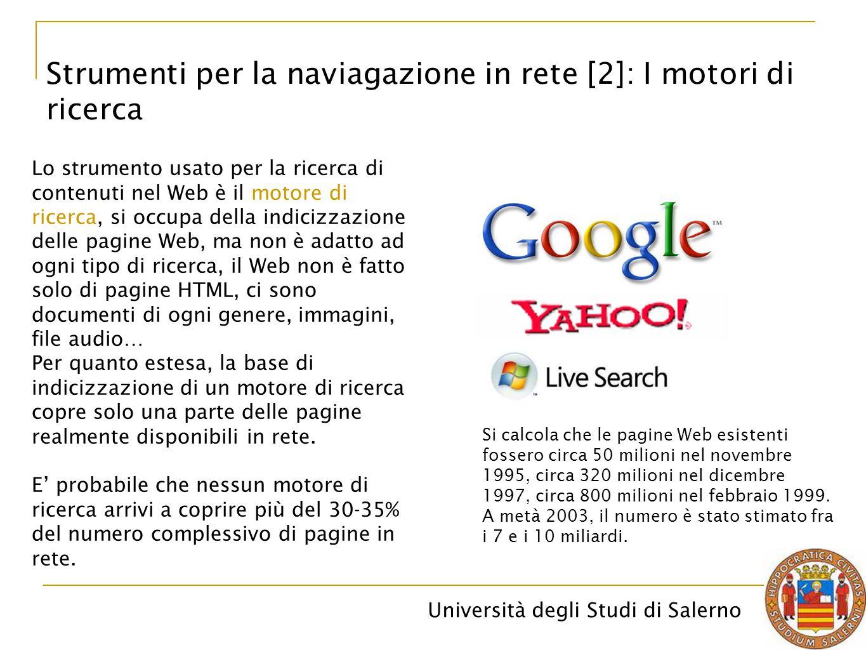 Strumenti per la naviagazione in rete [2]: I motori di ricerca